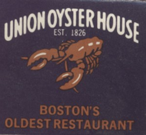 Boston Union Oyster (Boston) Matchbook front
