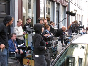 Cerw waiting to shoot with director seated