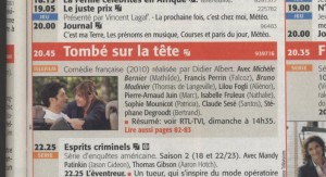 Tombé in tv schedule