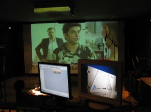 re-dubbing - looking at screen