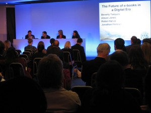 The Future of ebooks - panel shot at London Book Fair 2010