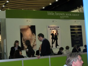 Little brown booth