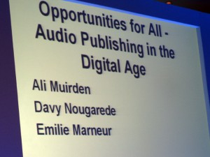 Audio publishing for books read by authors