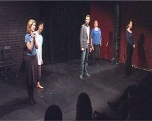 All actors of Max Dix on stage at beginning